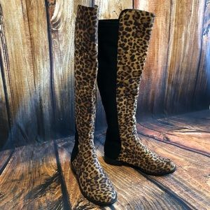 Unisa Leopard Print Over the Knee Boots 😍🐆😍